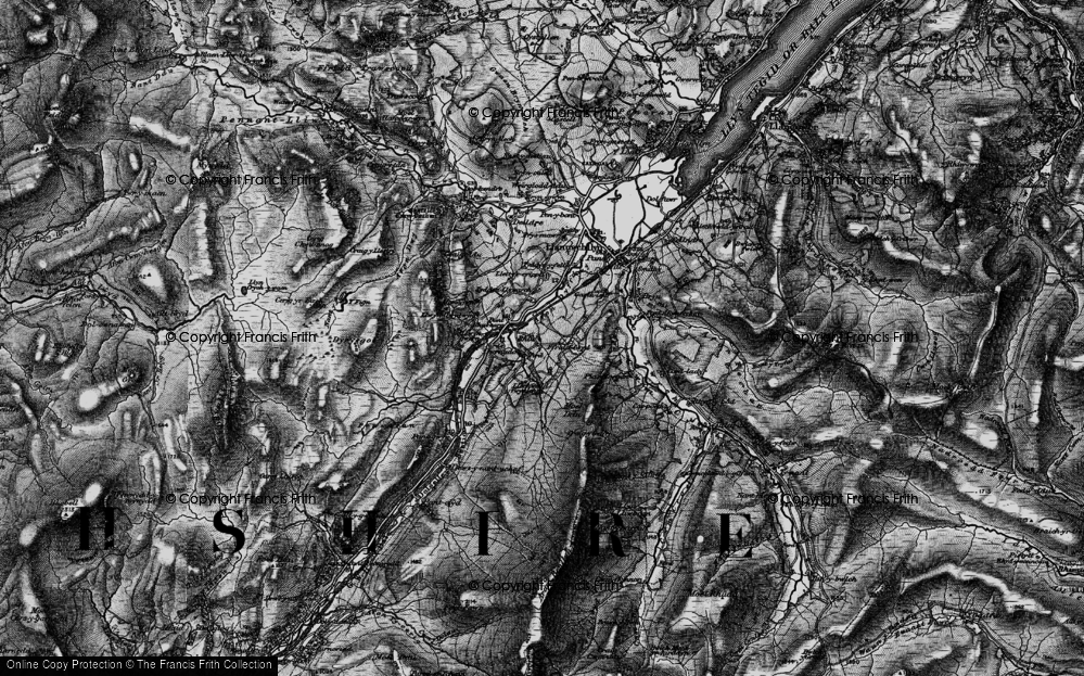 Old Map of Historic Map covering Afon Dyfrdwy in 1899