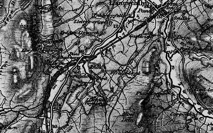 Old map of Afon Dyfrdwy in 1899