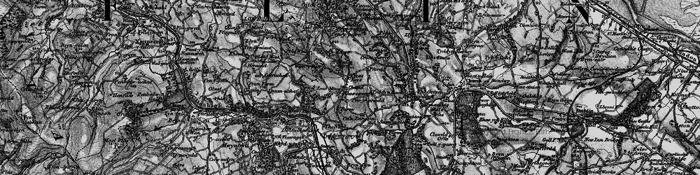 Old map of Rhosesmor in 1896
