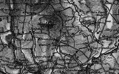 Old map of Afon Wern in 1898