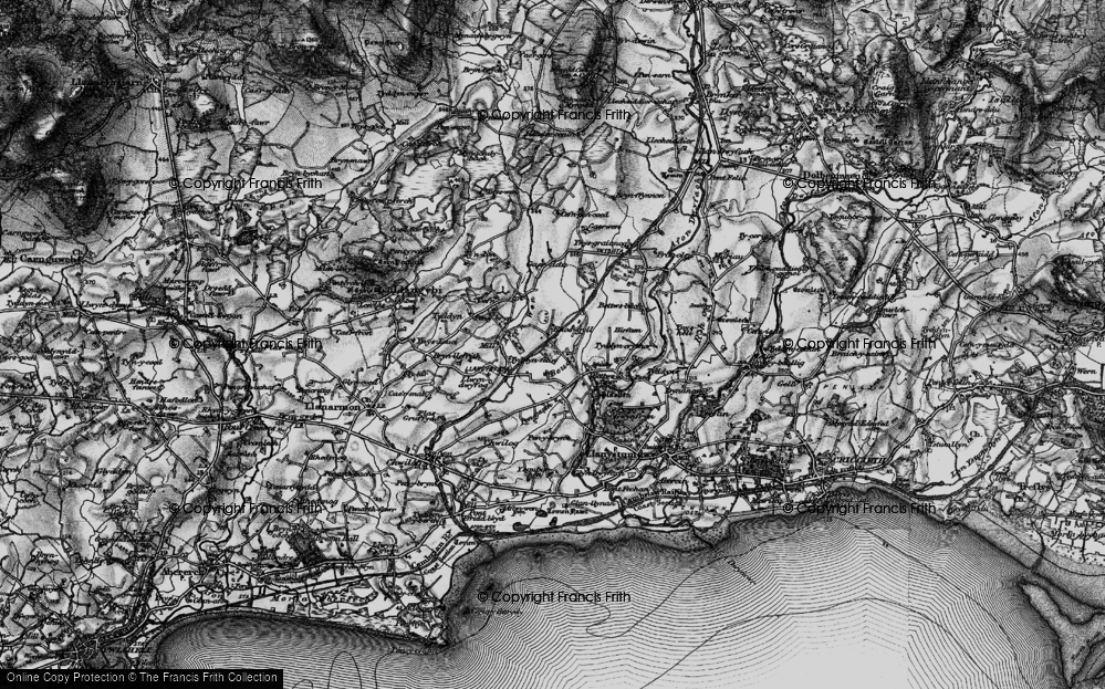 Old Map of Historic Map covering Afon Wen in 1899