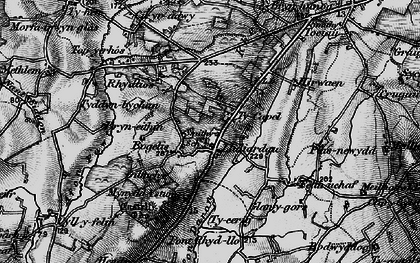 Old map of Afon Daron in 1898