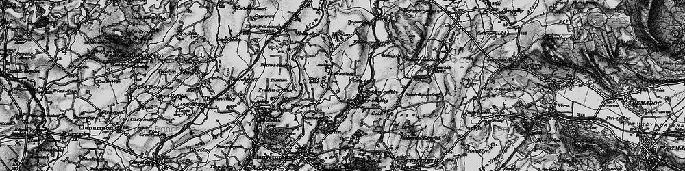 Old map of Afon Dwyfor in 1899