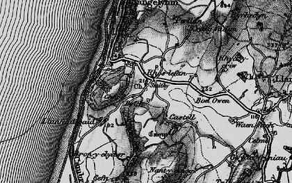 Old map of Rhoslefain in 1899
