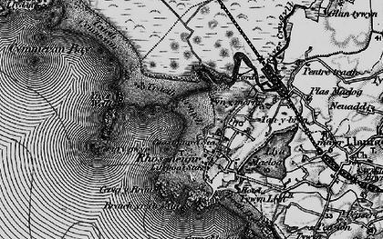 Old map of Ynys Feirig in 1899