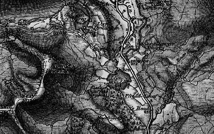 Old map of Y Garn in 1899