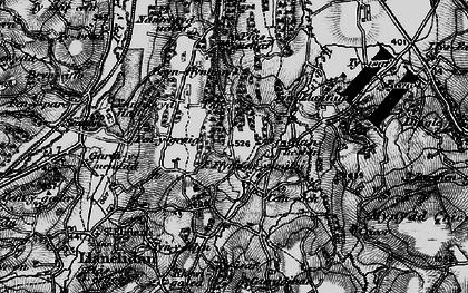 Old map of Afon Hesbin in 1897