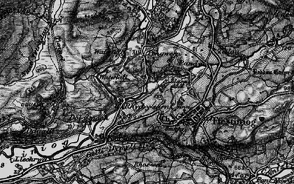 Old map of Afon Goedol in 1899