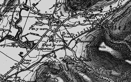 Old map of Ysguboriau in 1899