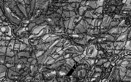 Old map of Fron in 1897