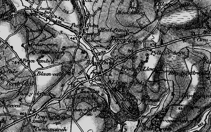 Old map of Alltyrodyn in 1898