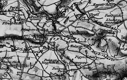 Old map of Wyre Fach in 1898