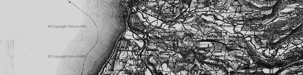 Old map of Rhydyfelin in 1899