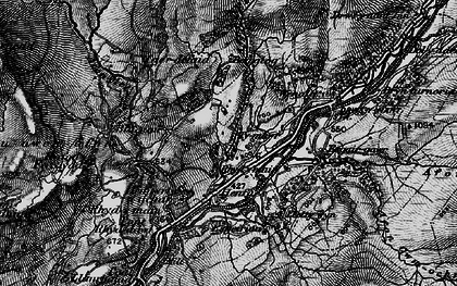 Old map of Afon Eiddon in 1899