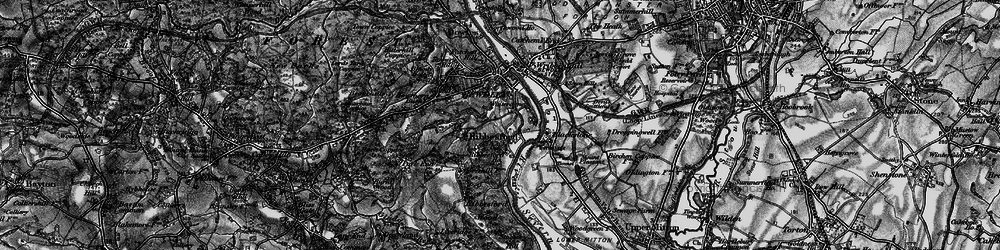 Old map of Ribbesford in 1899