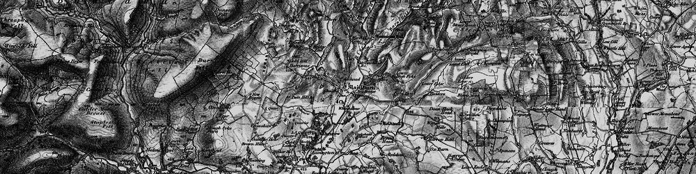 Old map of Ribble Valley in 1898