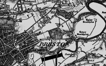 Old map of Ribbleton in 1896