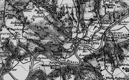 Old map of Leece's Wood in 1896