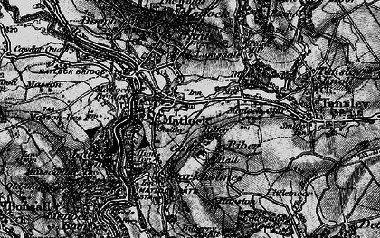 Old map of Riber in 1896