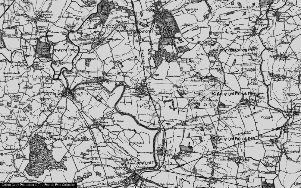 Old Map of Riccall, 1898 in 1898