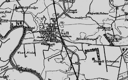 Old map of Riccall in 1898