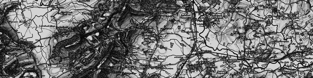 Old map of Richards Castle in 1899