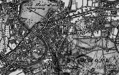 Old map of Richmond in 1896