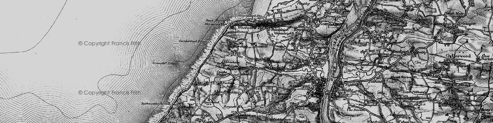 Old map of Abbotsham Court in 1895
