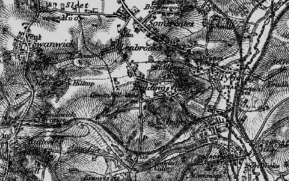 Old map of Riddings in 1895