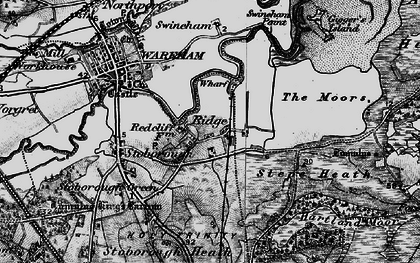 Old map of Ridge in 1895