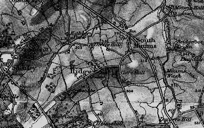Old map of Ridge in 1896