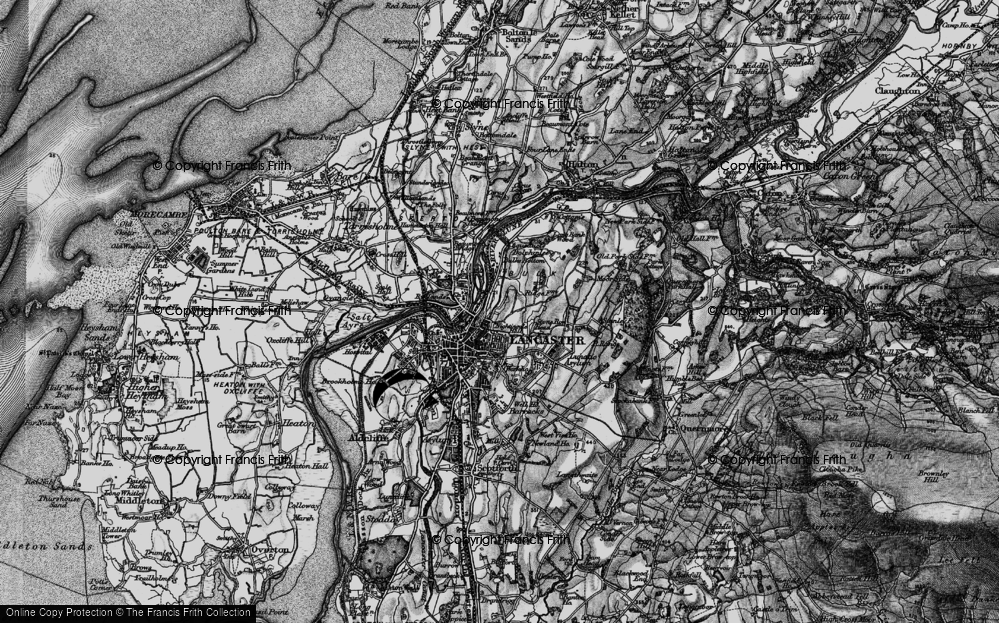 Old Map of Historic Map covering Ashton Meml in 1898