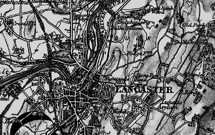 Old map of Ashton Meml in 1898