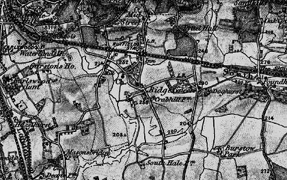 Old map of Ridge Green in 1895