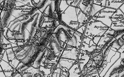 Old map of Acrise Place in 1895