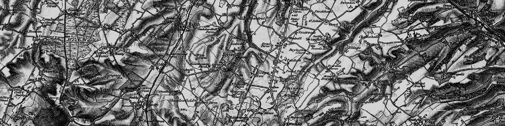 Old map of White Gate in 1895