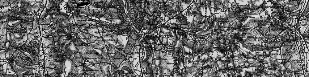 Old map of Ambergate in 1895