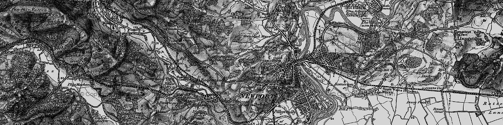 Old map of Ridgeway in 1897