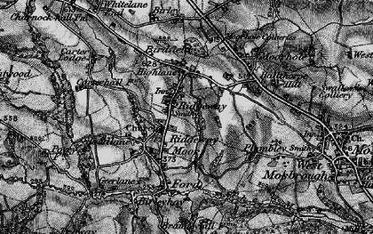 Old map of Ridgeway Moor in 1896