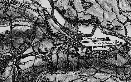 Old map of Riding Mill in 1898
