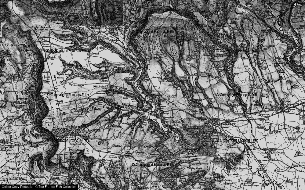 Old Map of Historic Map covering Ashberry Wood in 1898