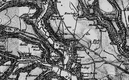 Old map of Ashberry Wood in 1898