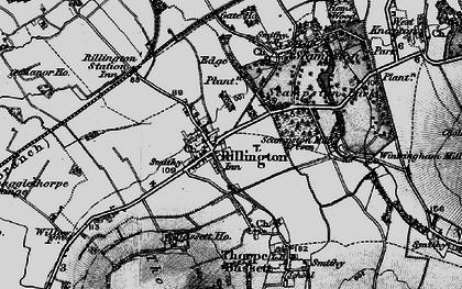 Old map of Rillington in 1898