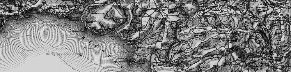 Old map of Toby's Point in 1897