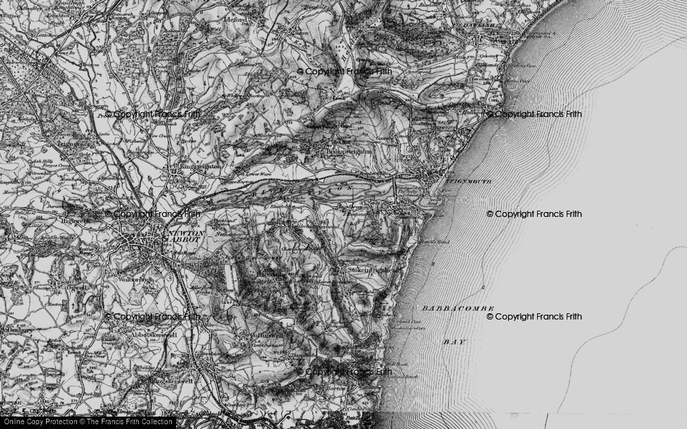 Old Map of Ringmore, 1898 in 1898