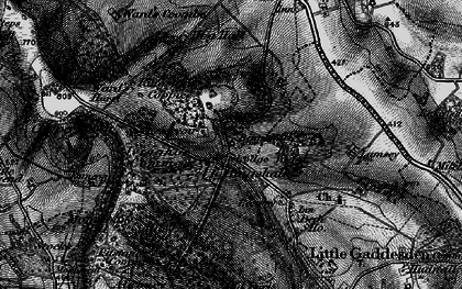 Old map of Ringshall in 1896