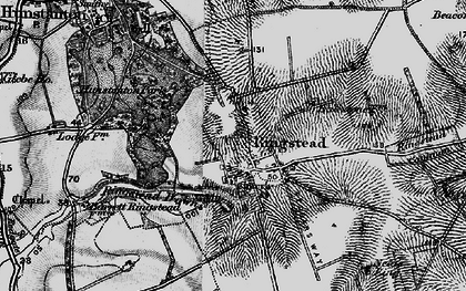 Old map of Ringstead in 1898