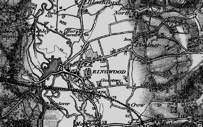Old map of Ringwood in 1895