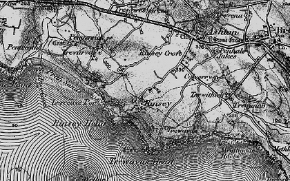 Old map of Rinsey in 1895