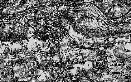 Old map of Ripley in 1895